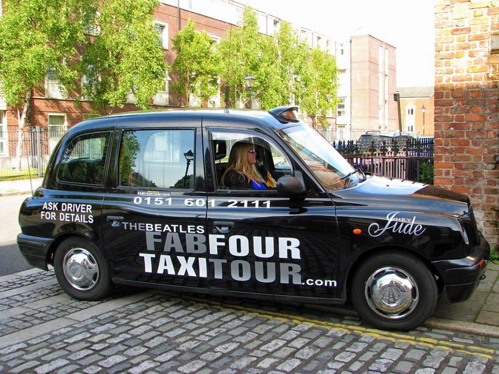 the Beatles in Liverpool Taxi tour