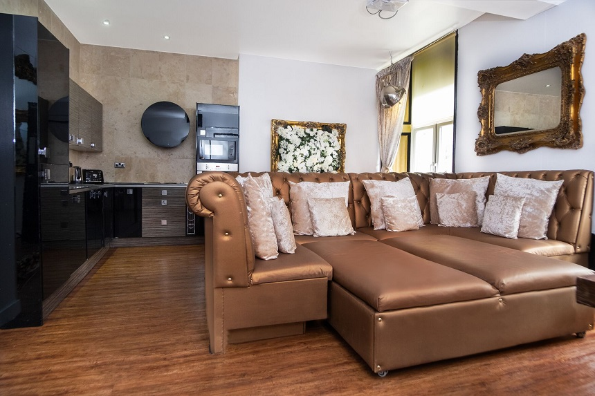 Iconic Apartment Living room - stag do packages in Liverpool