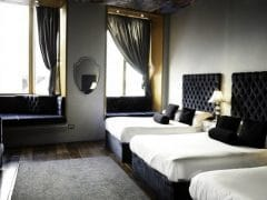 Sanctum hotel room - party hotel in Liverpool