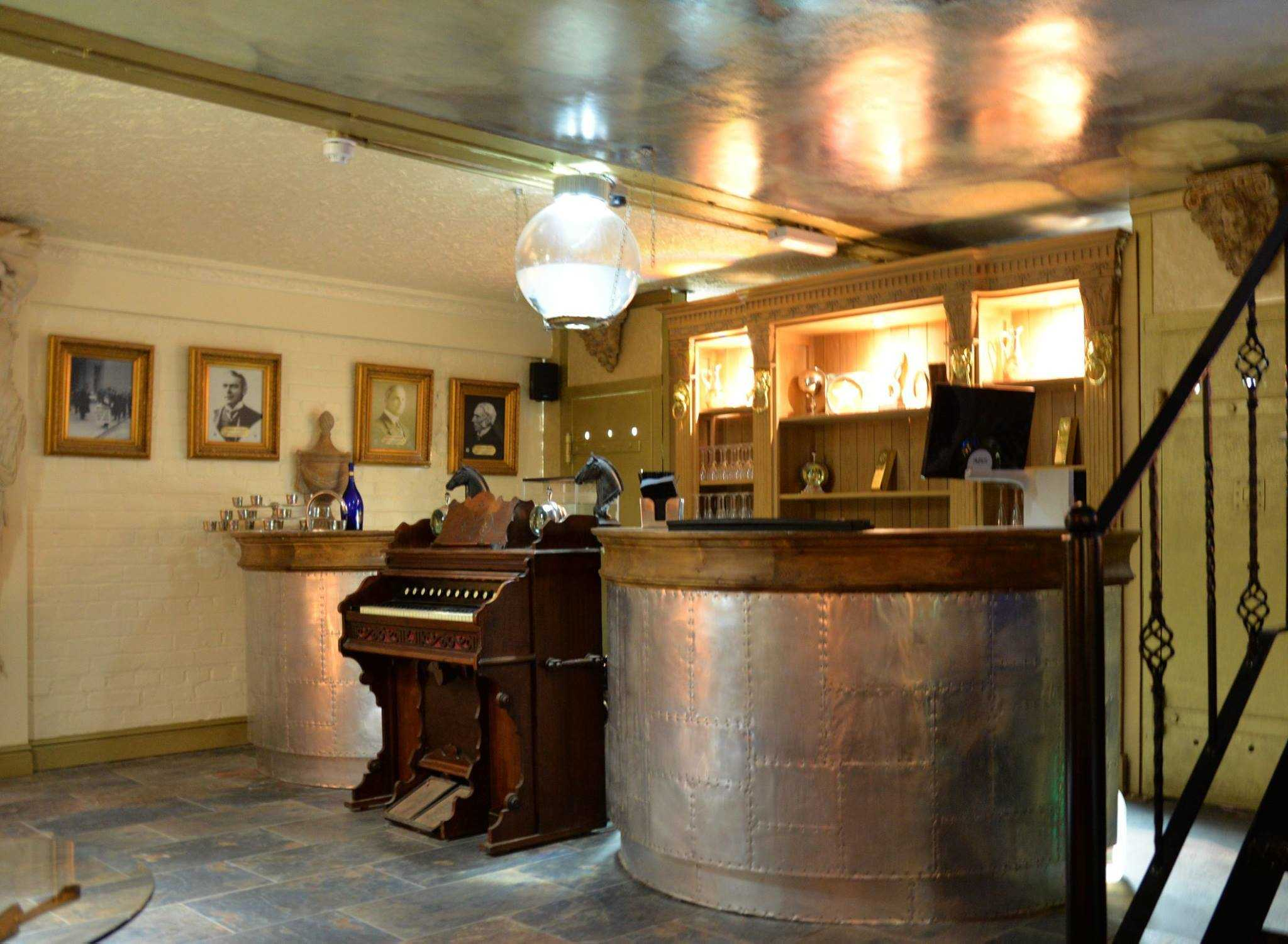 Morgans Vault Bar, complete with a 200 year old organ
