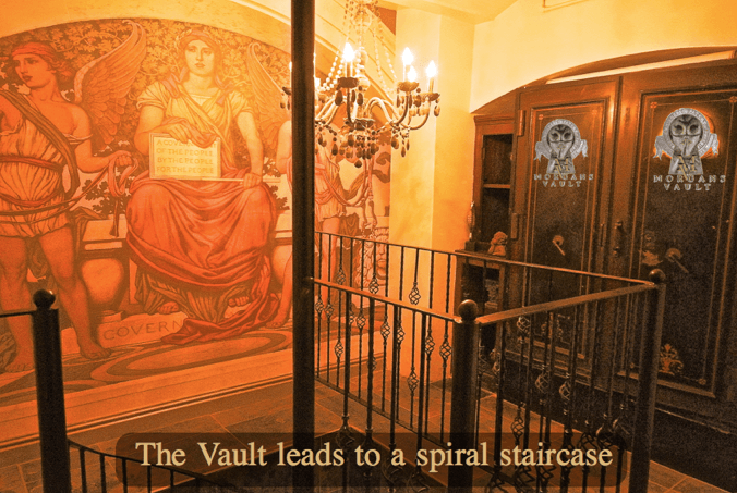 Morgans Vault Staircase, giving you a Narnia style secret passageway to your own party room