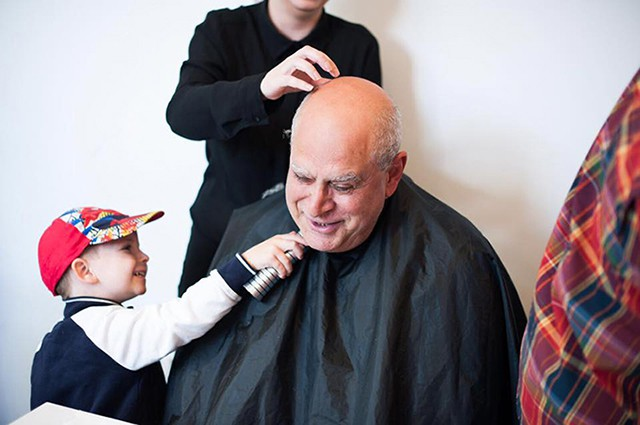 Students Giving Free Haircuts at the Open House Event