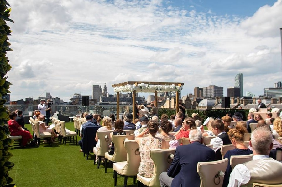 Garden of Eden rooftop wedding - Signature Living Weddings