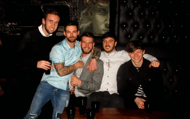 Birthday Boys at Bar Signature lad's weekend in Liverpool