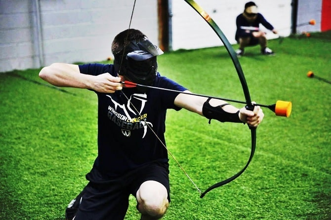 Combat Archery - stag do activities Liverpool