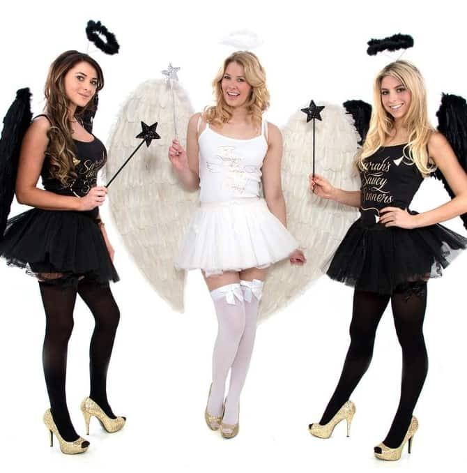 saints and sinners hen party fancy dress
