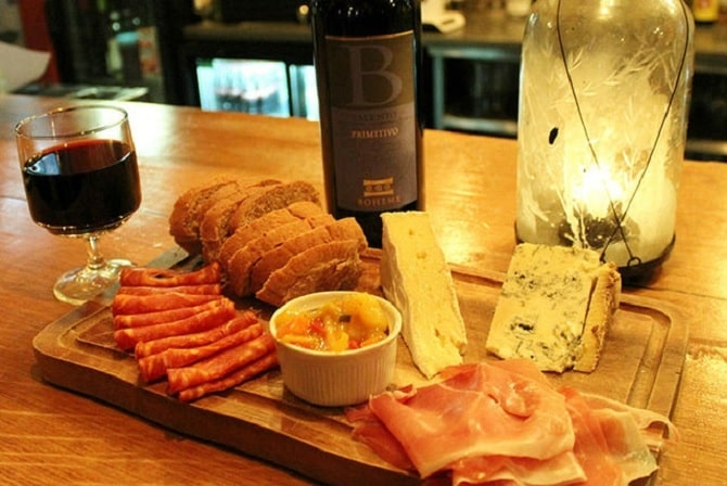 group meal in Liverpool - Kabinett meat and cheese platters