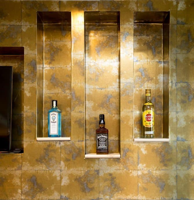 The Vault bar wall- Liverpool accommodation