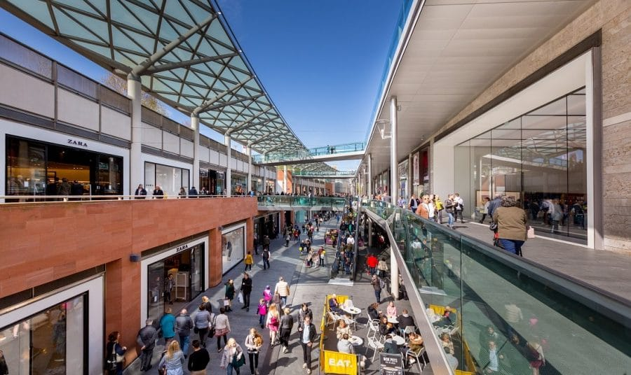 Liverpool One shopping centre in Liverpool