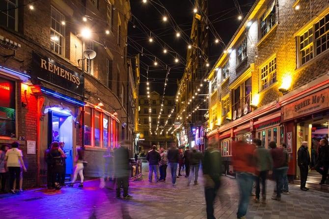 Mathew Street Liverpool city centre
