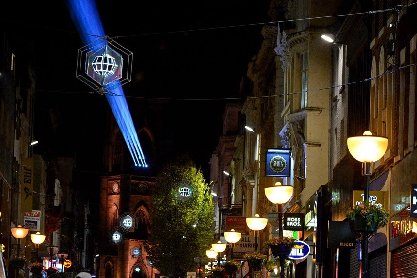 Bold Street Christmas late night shopping Liverpool