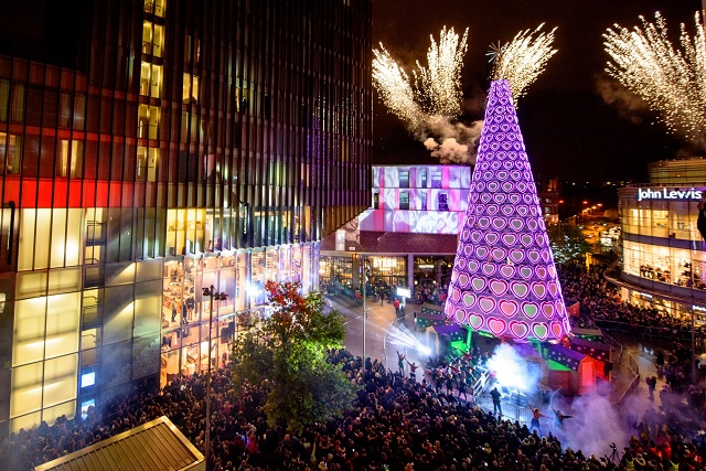 Christmas lights switch on Liverpool