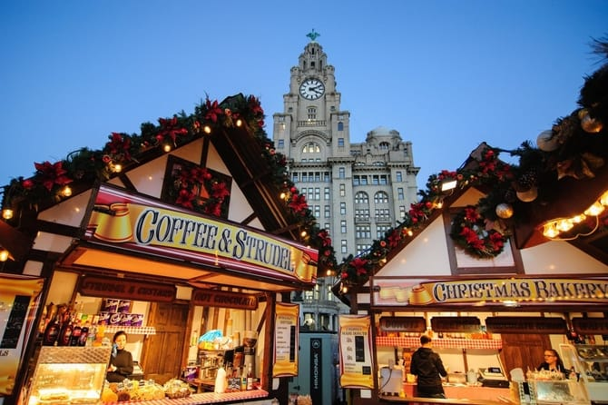 christmas shopping in Liverpool
