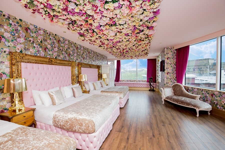 Garden of Eden suite - hen party hotel in Liverpool