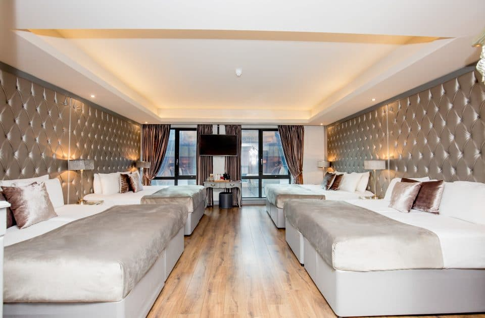 Grey rooms at Shankly Hotel - group accommodation for events in Liverpool