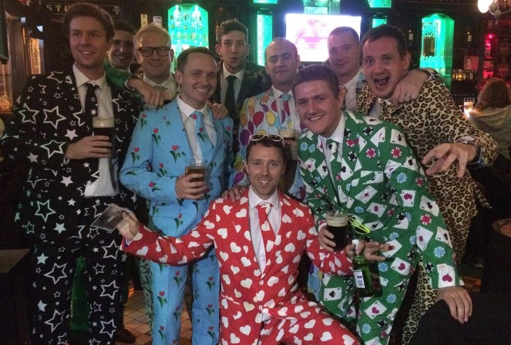 Whacky suits - stag do fancy dress ideas