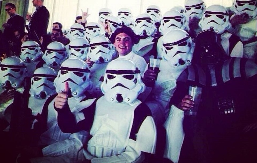 Storm troopers and Leia - stag do fancy dress ideas