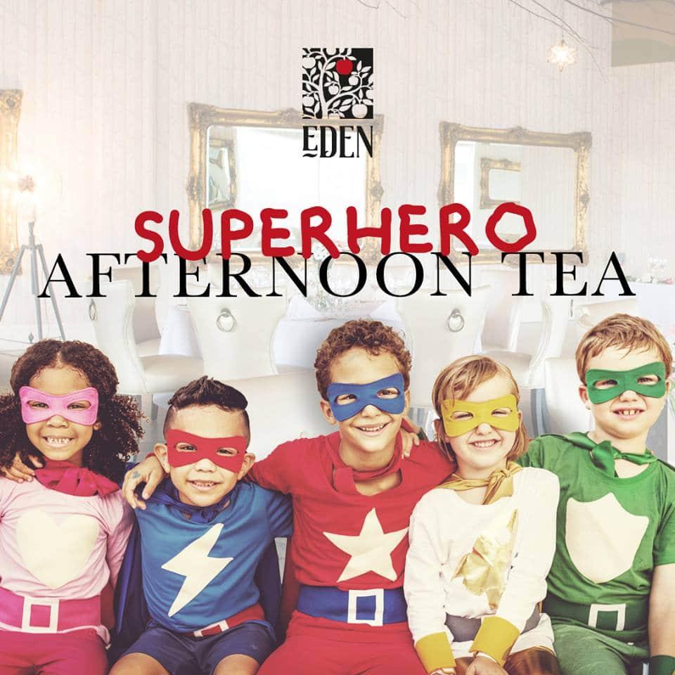 superhero afternoon tea