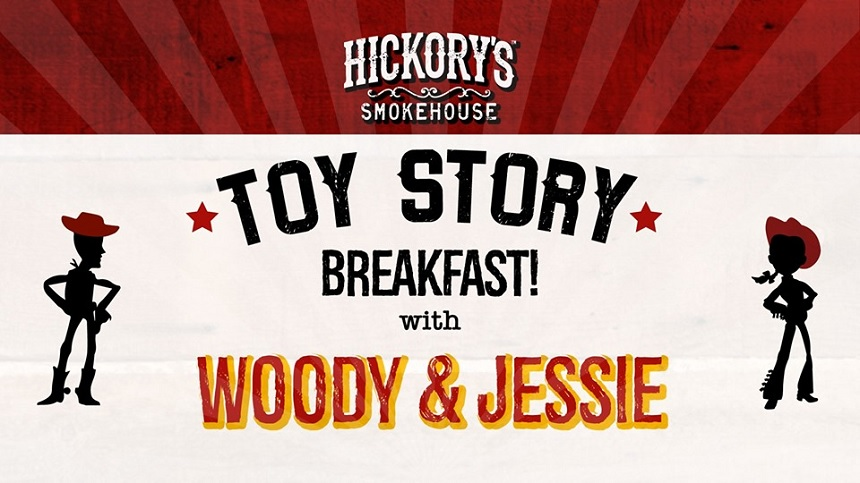 Hickory's Smokehouse character breakfast - things to do in school holidays