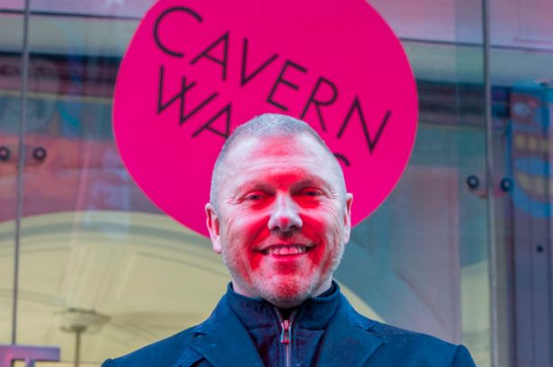 Lawrence Kenwright outside Cavern Walks