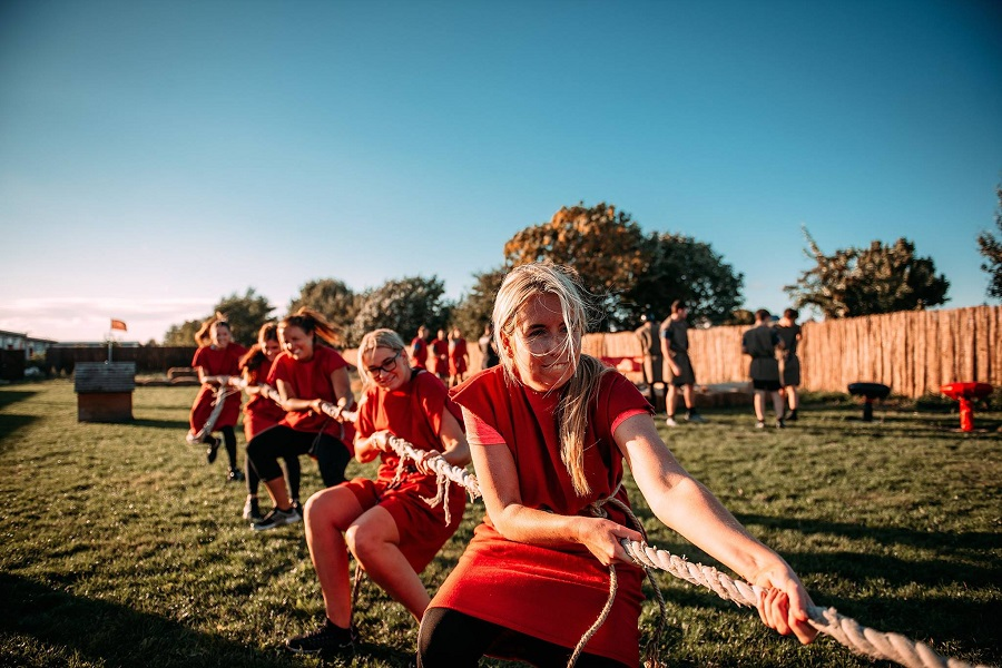 The Romans tug of war - stag and hen party