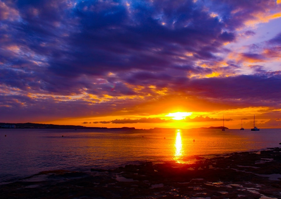 Sunset Ibiza from Mambo - Signature Living beach club